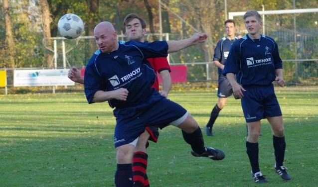 Ook Arno Hoek pikte zijn doelpunt mee en zorgde voor de 0-3.