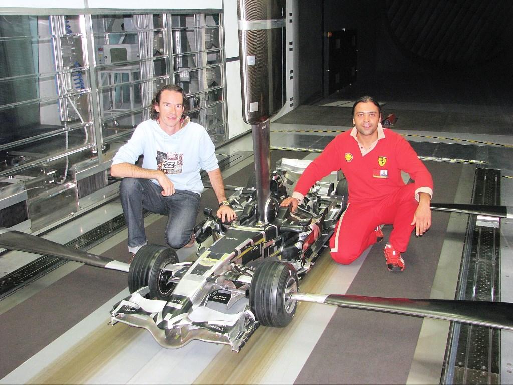 In de windtunnel worden de Formule 1 auto's getest  © GGOF.nl