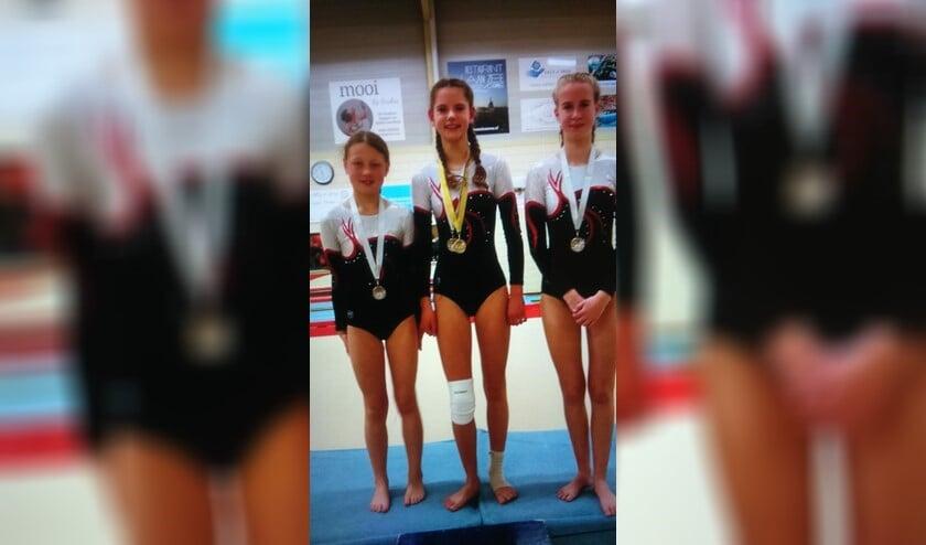 De deelmemers van gymnastiekvereniging ODI veroverde vier eilandentitels.