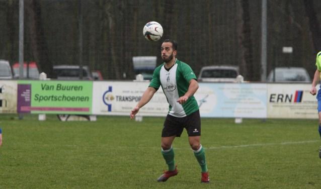 Ferrani van Vugt scoorde voor OVV in de met 4-0 gewonnen derby tegen Abbenbroek. * Foto: Wil van Balen.
