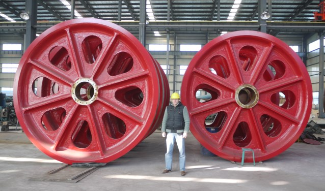 De fabricage van de kabelwielen in China ( Foto: H. Hegmann)