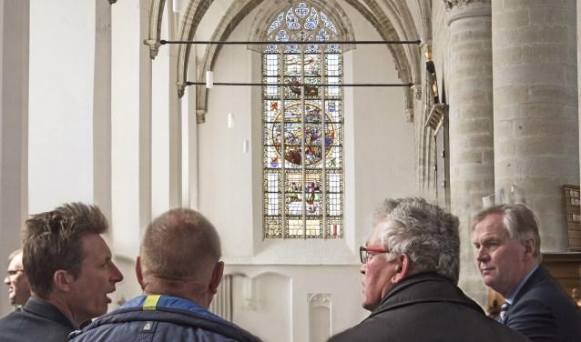 Het Coppelstockraam is een echte blikvanger in de st. Catharijnekerk (Foto: Jos Uijtdehaage)