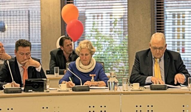 Aart Jan Spoon, Cilia Meerman (met koninklijke onderscheiding) en Rien Kap