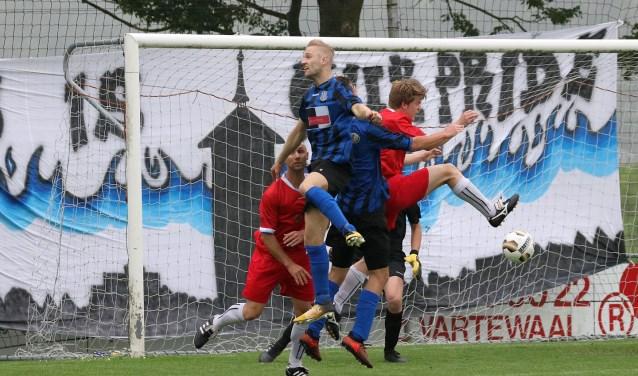 Een slecht spelend Vierpolders won zaterdag wel en speelt zaterdag in de tweede ronde van de nacompetitie. Foto: PR