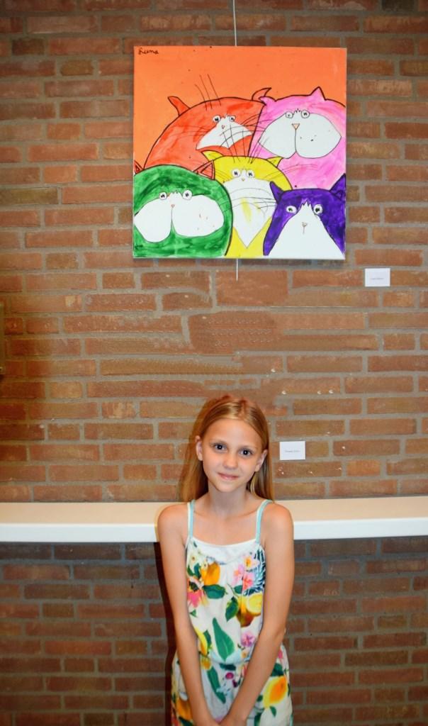 Een klein meisje met een groot talent  © GrootHellevoet.nl