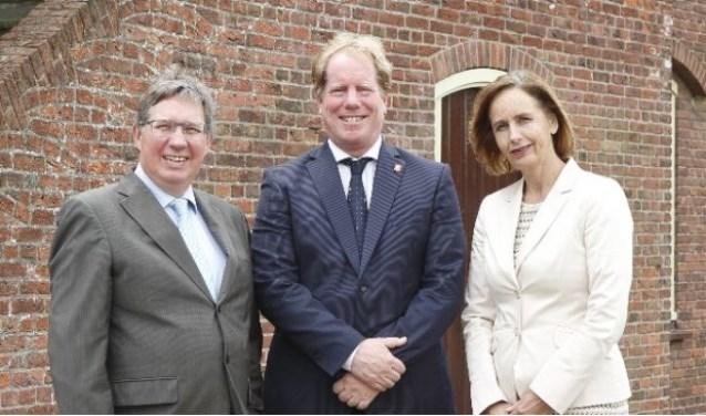 Gregor Rensen, Peter de Jong en Milène Junius, de drie burgemeesters van Voorne