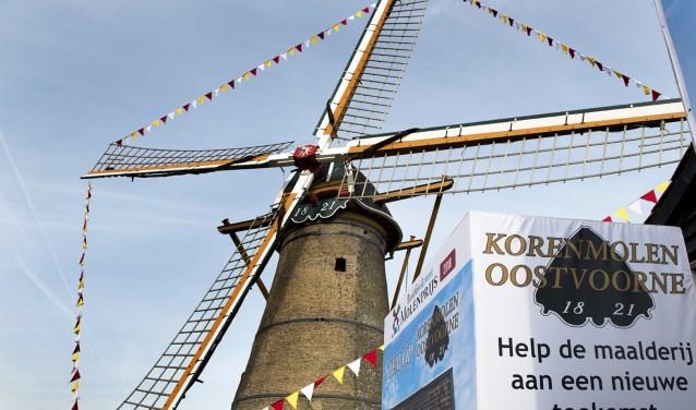 Stichting STORM hoopt op de 200ste verjaardag van de molen van Oostvoorne in 2021 een 'museale maalderij' te kunnen openen. * Foto: Jos Uijtdehaage.
