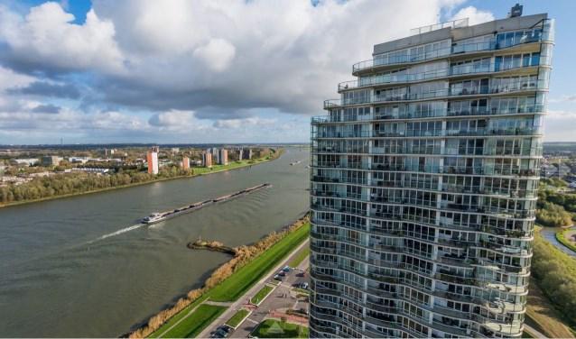 Het toekomstige uitzicht vanaf toren II.