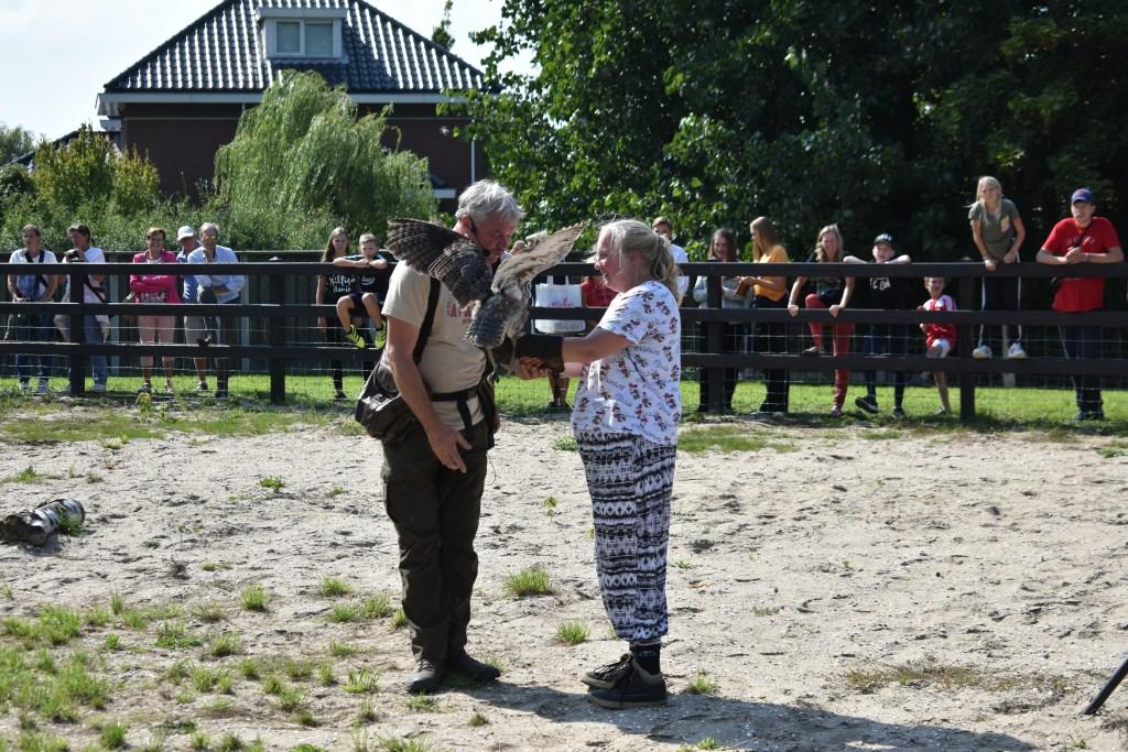 De valkenier had assistentie nodig.  © Groot-Westland.nl