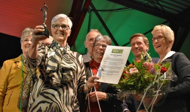 De juryprijs van de 'Loftrompet'werd in 2018 uitgereikt aan SeniorWeb Westland.