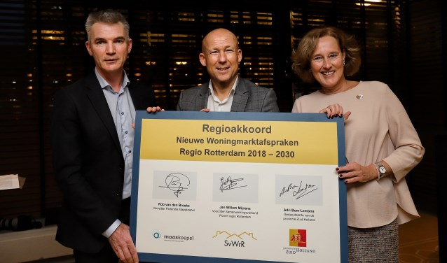 v.l.n.r. Van den Broeke, Mijnans en Bom-Lemstra. Foto: Peter de Jong.