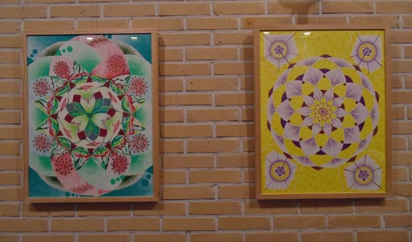 Twee van de zeven chakra's van Annette van Riel. (Foto: Cora de Boed)