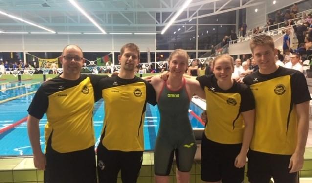 Frank v.d Voordt, Niels Albrechts, Danica Koedoot, Whitley Rens en David Kievit  (vlnr) Nico Paasse ontbreekt.