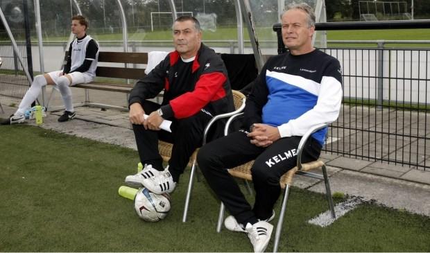 Theo Larssen, rechts op de foto.