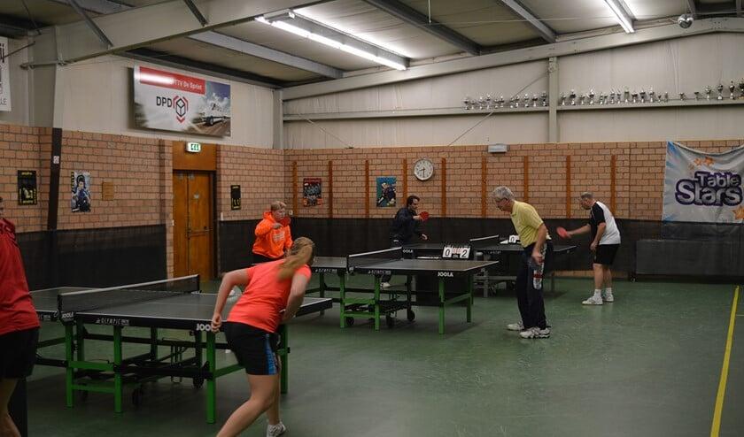Komende zaterdag hopen de jeugdteams van De Sprint in de eigen tafeltennishal aan de Brielse Rik weer op veel aanmoediging.