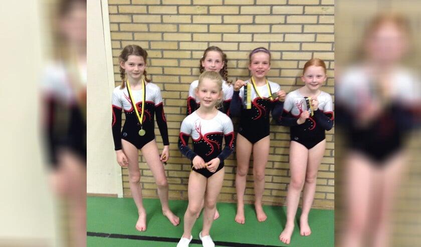 Super trots op hun medailles!