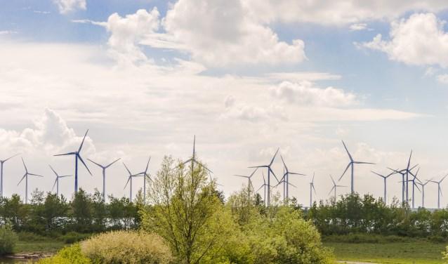 Deltawind uit Oude-Tonge is samen met Zeeuwind de bouwer van het gigantische windmolenpark De Krammer, heel dicht tegen Oude-Tonge aan. (foto: Jacquelien Wielaard)