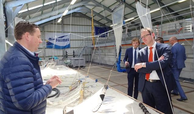 De delegatie werd ontvangen in het Innovatiecentrum voor de visserij in Stellendam. Een uniek stukje Europa...