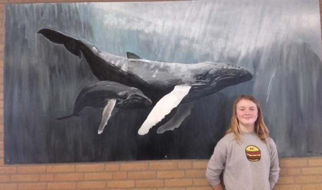 De RGO vmbo is super trots op dit talent en hoopt nog meer werk van haar te kunnen exposeren in de school al is Eva daar bescheiden onder.