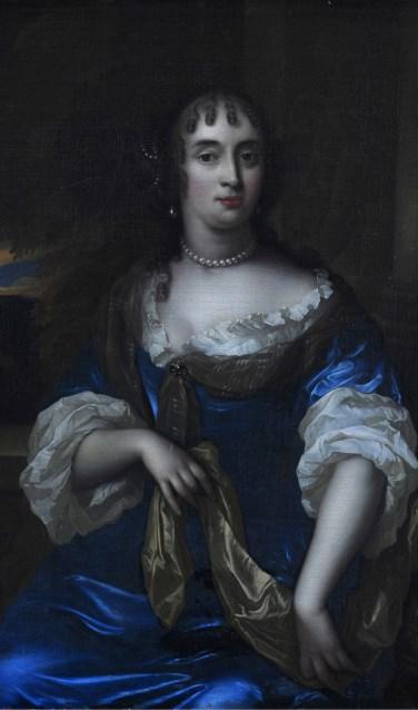 Jan de Baen, Portret van Maria van Berckel, 1670 18059 a,b, olieverf op doek. Dordrecht, Huis Van Gijn