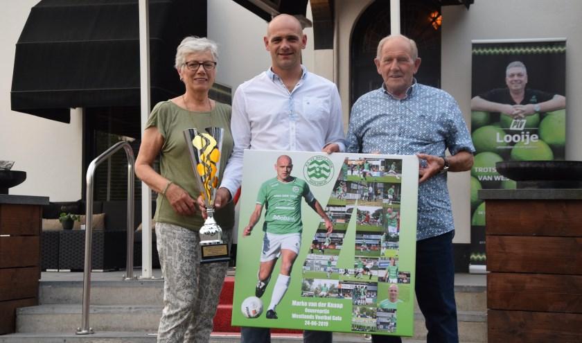 Marko van der Knaap is blij met zijn oeuvreprijs en de steun van zijn ouders gedurende zijn loopbaan van 700 wedstrijden voor Westlandia.