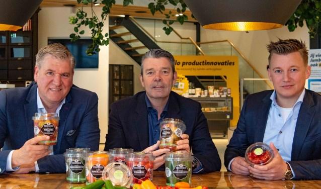 Vlnr.: Robert Ketelarij (Greenco), Ton van den Hoek (Jumbo) en Jan Walta (The Greenery).