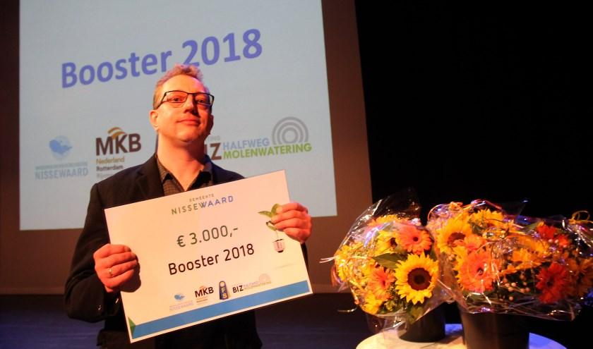 Vorig jaar is de Booster voor het eerst uitgereikt.