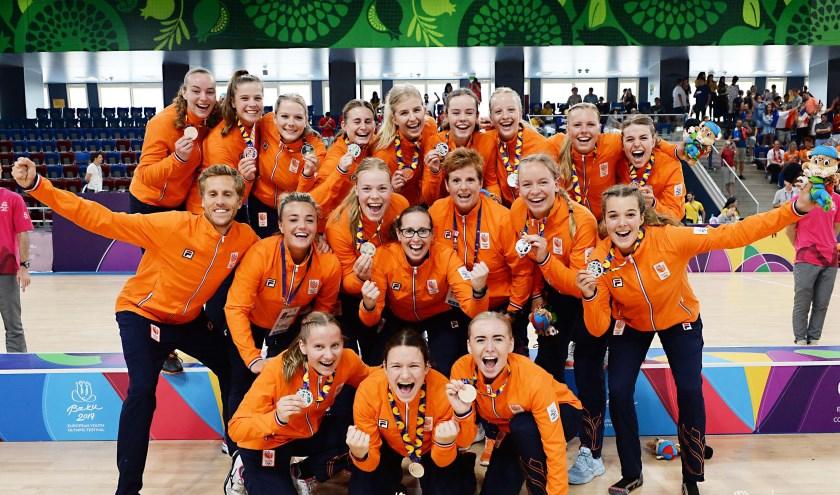 Het Nederlands handbalteam U17.