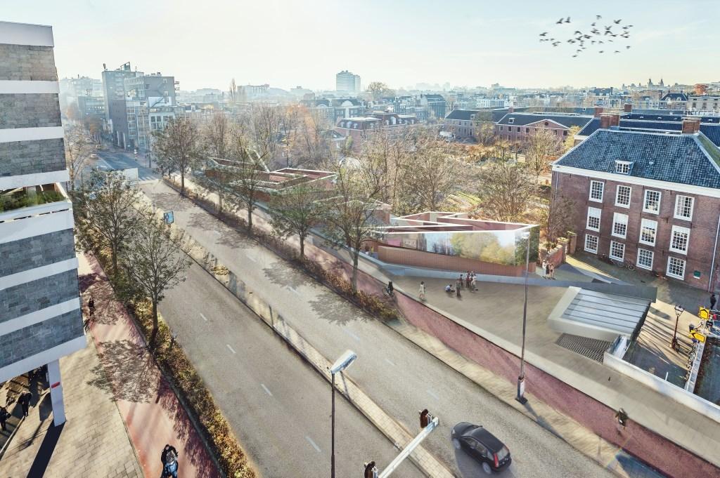 Het nieuwe ontwerp voor het Holocaust Namenmonument van bovenaf gezien.  © Groot-Westland.nl