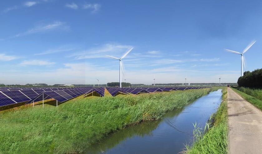 Windmolens, zonnepanelen en batterijen vormen samen een energielandschap