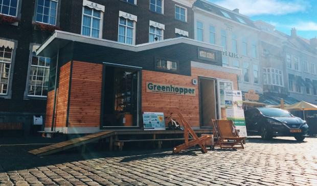 De Greenhopper, waarmee de gemeente Breda de komende twee jaar energieadvies geeft aan inwoners.