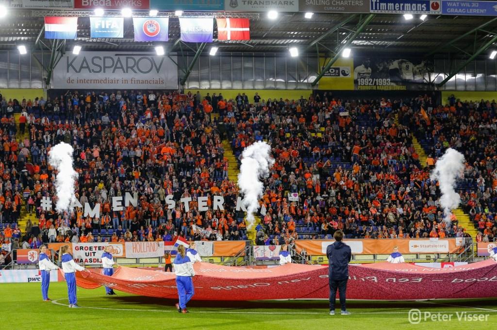 De Oranje Leeuwinnen versloegen vrijdag 5 oktober Denemarken met 2-0 in Breda. Foto: Peter Visser © BredaVandaag