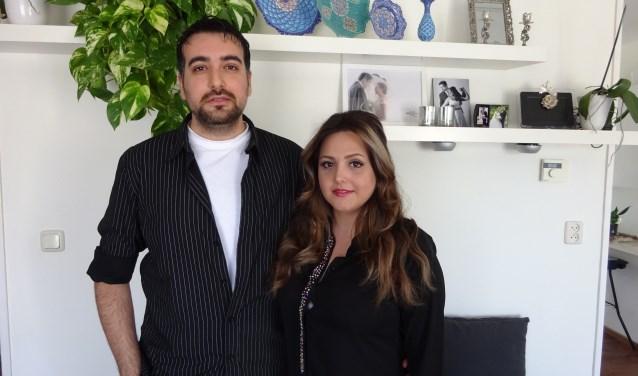 Tristiaan en Parinaz zijn in Vlissingen herenigd. FOTO MARIELJA TEN BRUGGENCATE