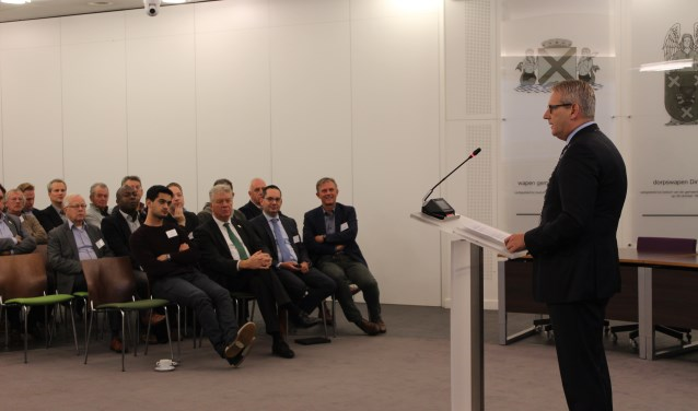 Burgemeester Ruud van den Belt van Steenbergen ontving zijn collega burgemeesters met wethouders.