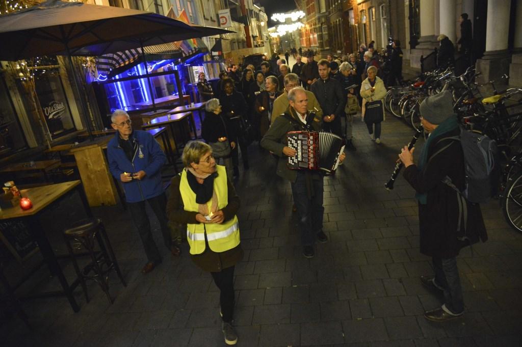 De herdenking van de Kristallnacht op 8 november 2018. Foto: Perry Roovers © BredaVandaag