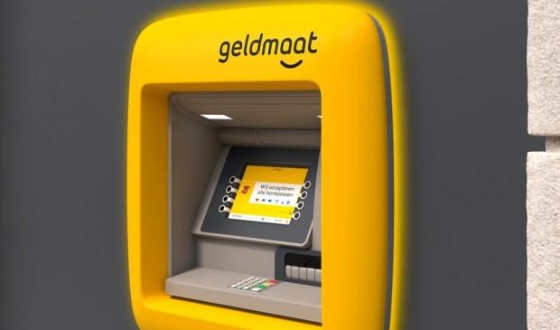 Het nieuwe uiterlijk van de geldautomaat.