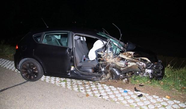 De auto was total loss.