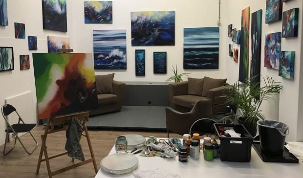 Het atelier van Mirjam Bijvank