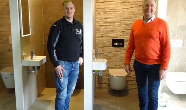 Jacob en Dick Nieuwenhuis van TDN Tegelzetbedrijf.