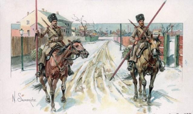 Kozakken te paard. PORTRET ARCHIEF RINIE MAAS