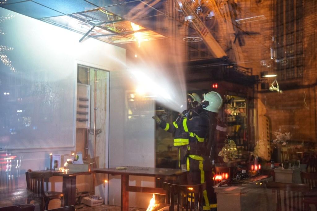 De brandweer moest in actie komen bij Il Padrino.