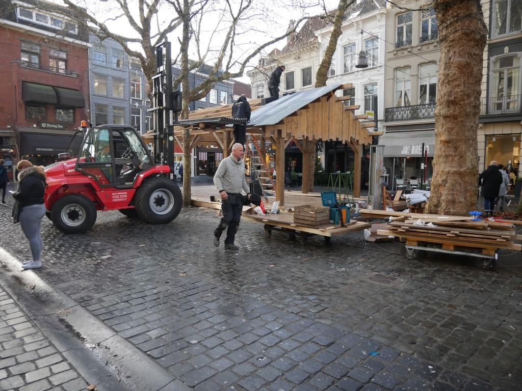 In de Bredase binnenstad wordt hard gewerkt aan Betoverend Breda. Foto: Wesley van der Linde/GroenNieuws.nl © BredaVandaag