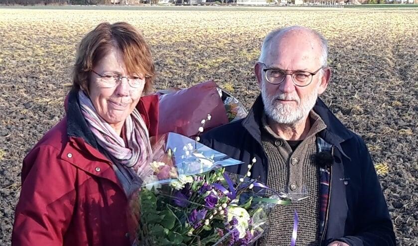 Wim Roose en zijn echtgenote met de Gouden Jirizaag.