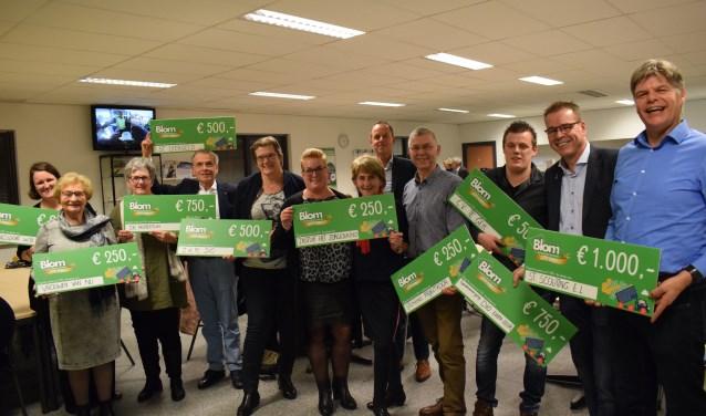 De winnaars van de Gas op je Clubkas actie. FOTO STELLA MARIJNISSEN
