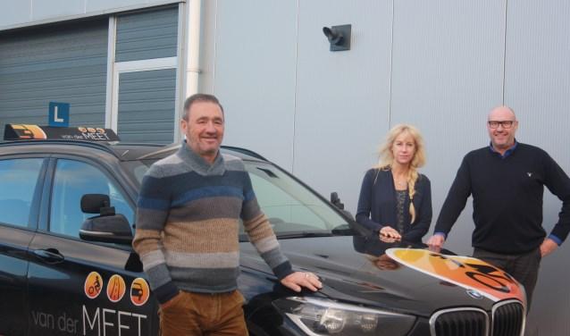 René op de voorgrond en Rob en Diana op de achtergrond. FOTO FRITS SIMONS