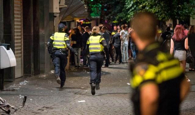Archieffoto van een arrestatie tijdens het uitgaan in Breda.