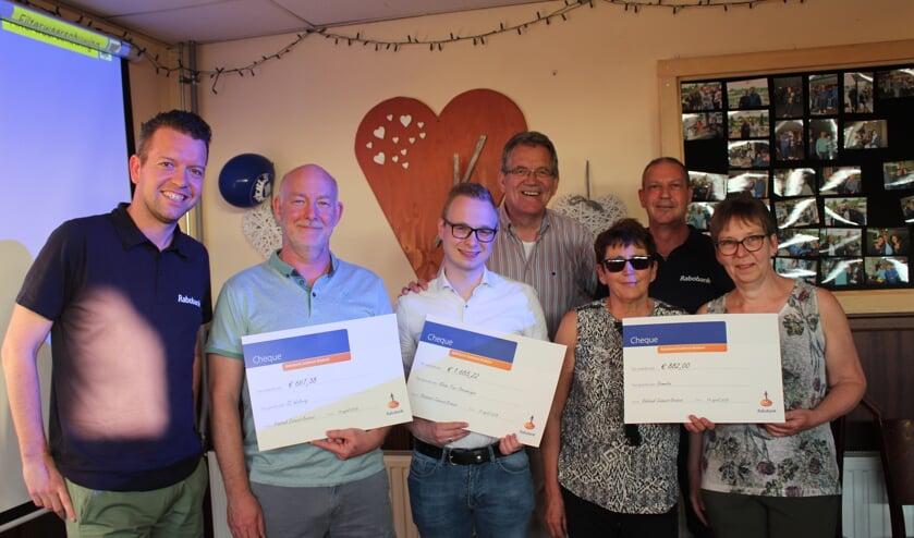 De top 3 uit de Rabobank Clubkas Campagne bij TV Steenbergen