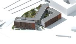 Het wooncomplex komt tussen de Stationslaan en Terheijdenstraat te liggen.