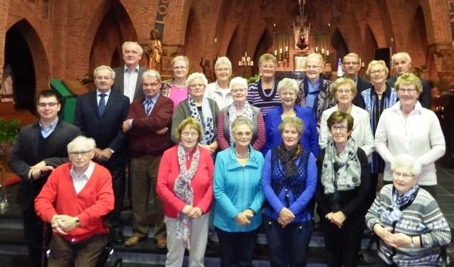 Veertig jaar lang is hethet St. Janskoor dat de sfeer van de kerkdiensten in Hoeven aanzienlijk verhoogd. FOTO PRIVÉBEZIT