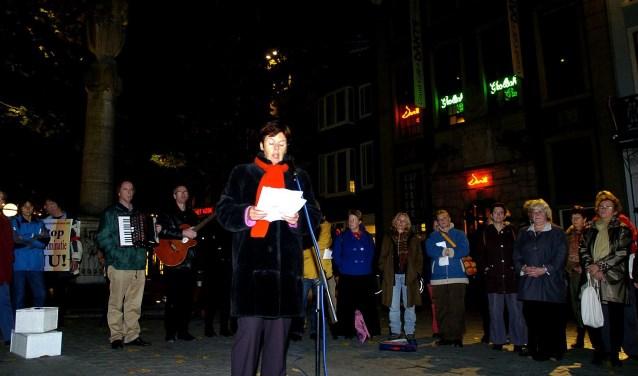 Kristallnacht 2005, Marja Heerkens. FOTO JAN VAN GURP